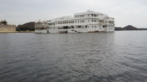 A wedding cake of a hotel on Lake Pichola