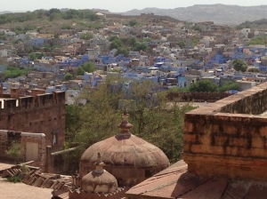 Blue-speckled city of Jodhpur seen from Mehrangarh Fort