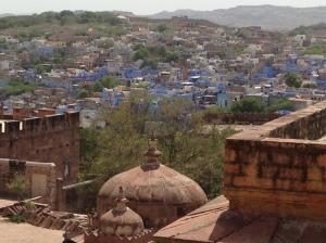 Blue-speckled city of Jodhpur seen from Mehrangarh Fort