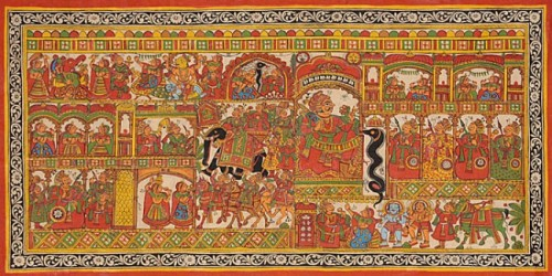 The Phad: Image courtesy Rajasthan Textiles