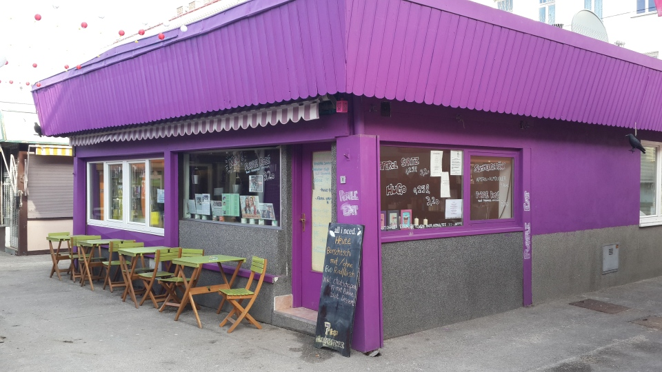 Unmistakably purple and friendly service