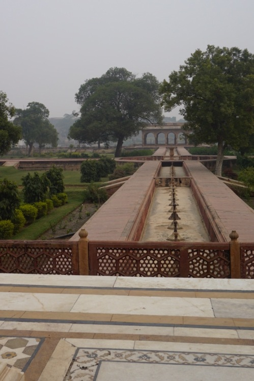Three thousand fountains powered by gravity feed from tanks with water from the River Jamuna still flow twice a year.