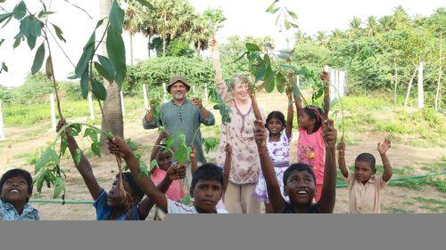 Shobana will plant the peepul tree today...