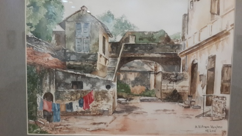 Disappearing Dwellings, Chennai. Watercolor by Vikram Verghese